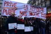 Manifestation contre la reforme des retraites à Paris le 9 janvier 2020.