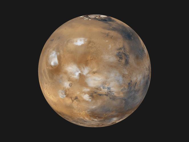 Vue globale de la planète Mars.