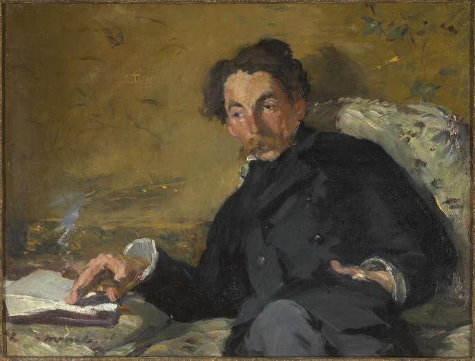 Portrait de Stéphane Mallarmé, signé Edouard Manet (1876), huile sur toile.