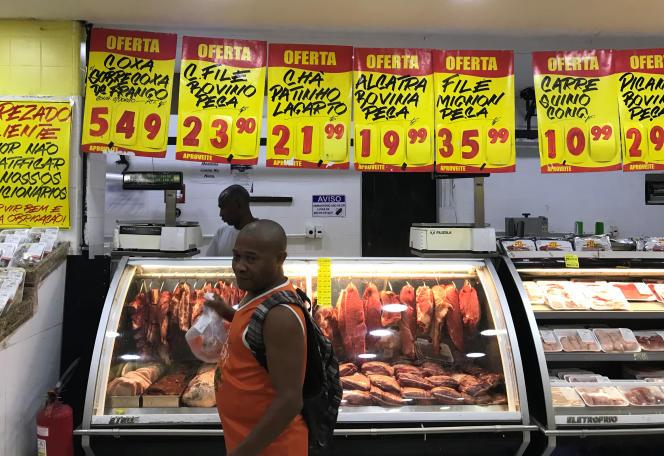 Dans un supermarché de Rio de Janeiro, en mai 2019.
