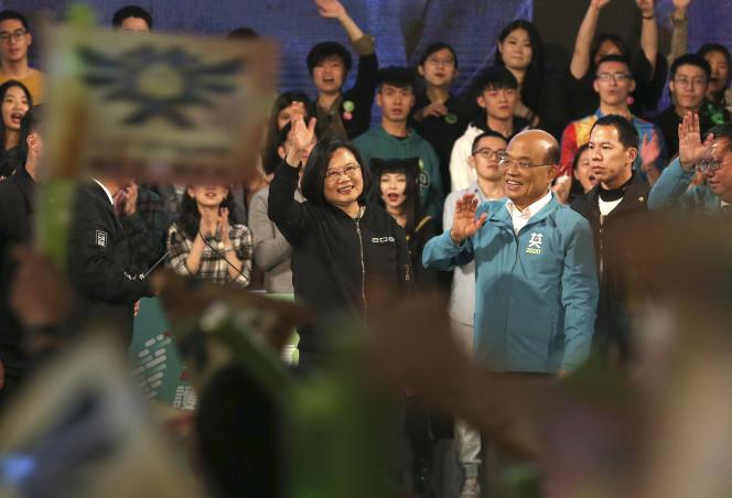 La présidente taïwanaise, Tsai Ing-wen, le 10 janvier à Taipei.