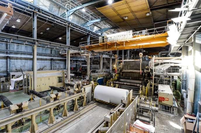 L'usine du papetier Arjowiggins, de Bessé-sur-Braye, le 27 mars 2019, au moment de la liquidation.