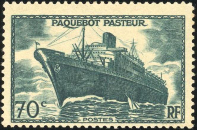 Paquebot Pasteur(1941), version sans surcharge non émise: 54 000 euros