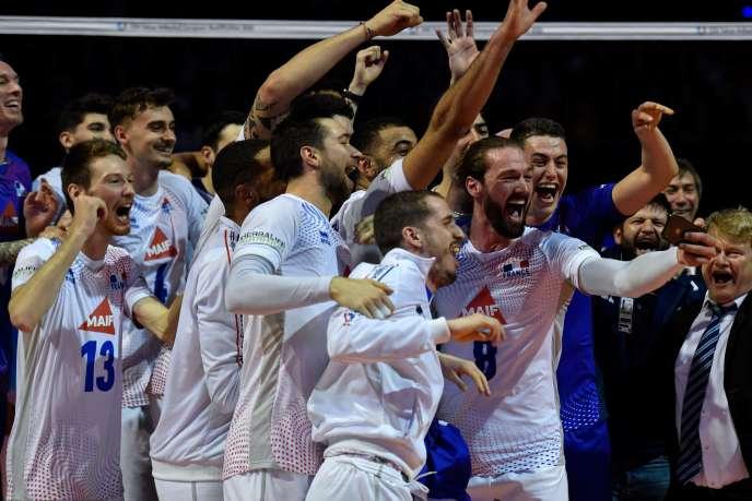 Les Bleus se sont imposés face aux Allemands 3 sets à 0 (25-20, 25-20, 25-23), en finale du tournoi de qualification, à Berlin, le 10 janvier.