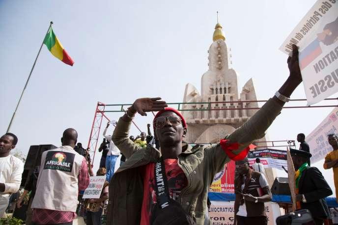 Manifestation anti-française à Bamako, le 10 janvier.