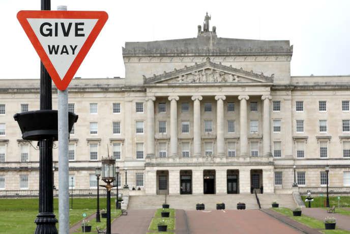 Le Parlement de Stormont, à Belfast, en avril 2019.