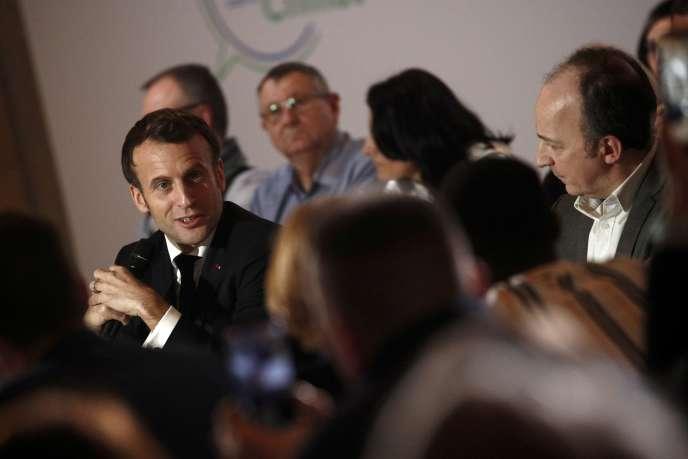 Emmanuel Macron, à la convention pour le climat, à Paris, le 10 janvier.