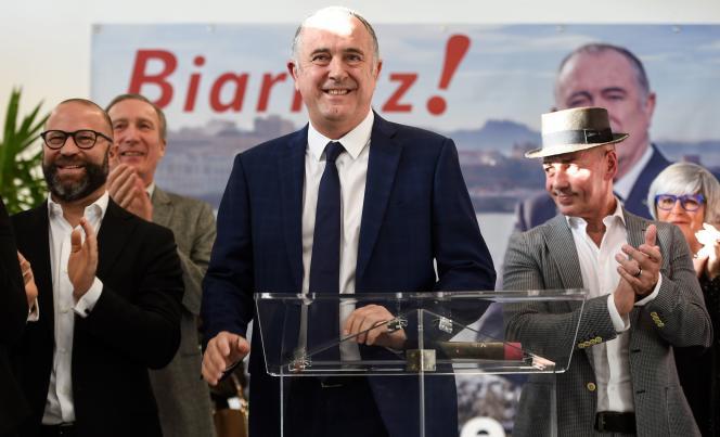 Le ministre de l'agriculture, Didier Guillaume, déclare sa candidature à l'élection municipale de Biarritz, le 11 janvier.