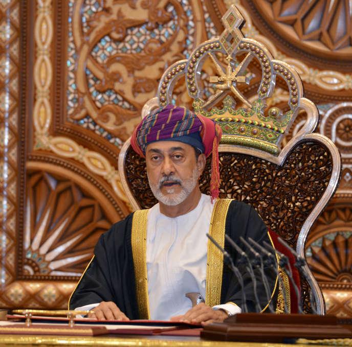 Le nouveau sultan d'Oman, Haitham Ben Tarek Al-Said, à Oman, le 11 janvier 2020.