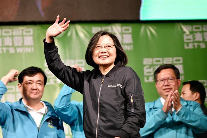 La présidente taïwanaise, Tsai Ing-wen, le 11 janvier à Taipei.
