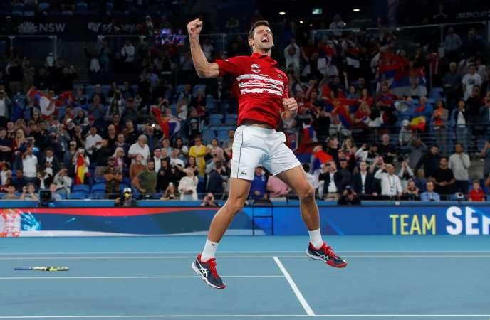 Novak Djokovic a remporté, avec la Serbie, un nouveau trophée, dimanche.