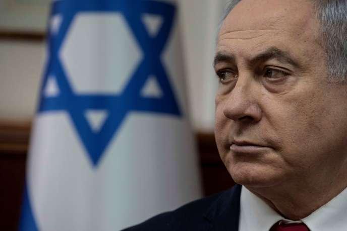 Benjamin Netanyhou, in Jerusalem, January 12.