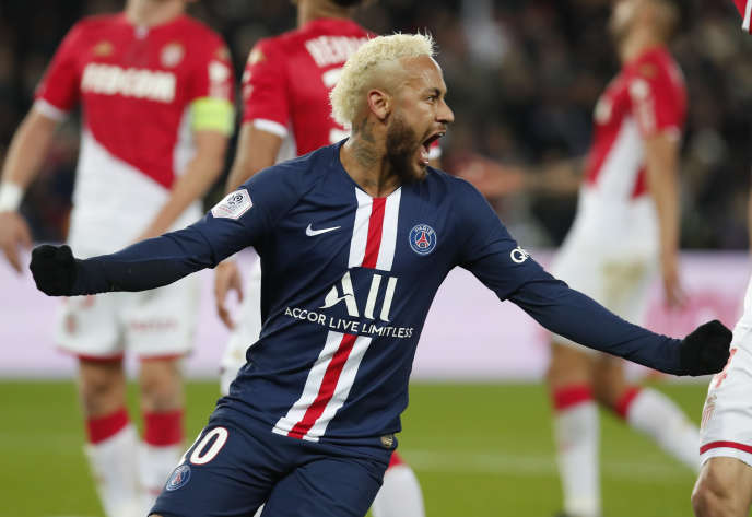 Neymar contre Monaco, le 12 janvier 2020.