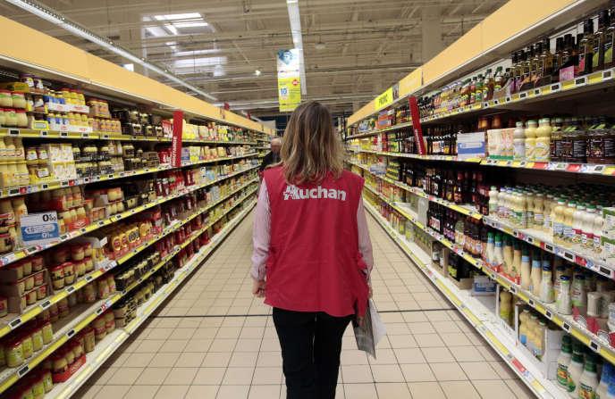 Un supermarché Auchan à Nice, en 2016.