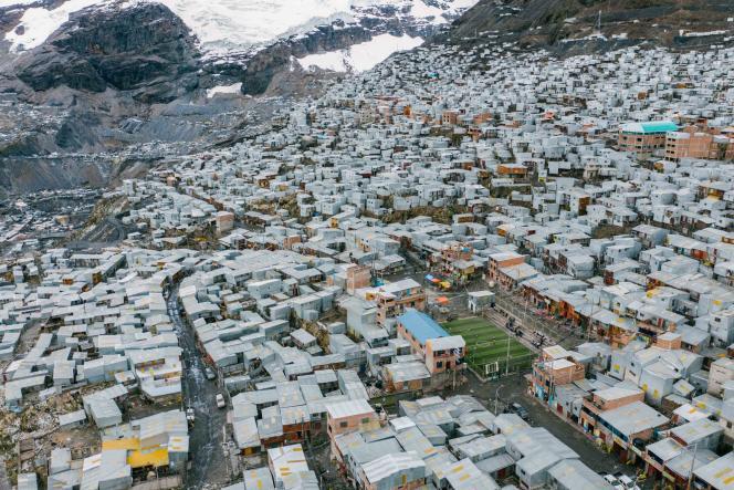 La Rinconada, située à 5300 mètres d'altitude, dans le sud-est du Pérou, en février 2019.
