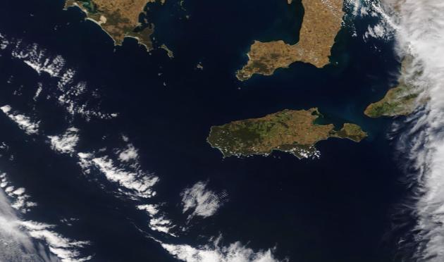 L'île Kangourou, en Australie-Méridionale, vue d'un satellite, le 2 novembre.
