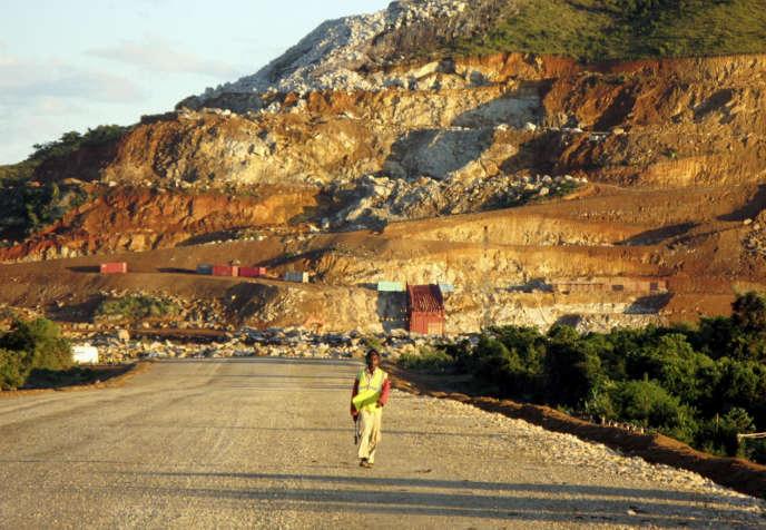 Une mine de l'entreprise Rio Tinto à Tolagnaro,sur la côte sud-est de Madagascar, en avril 2007.