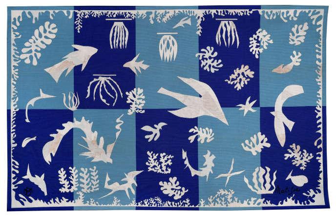 Henri Matisse, Polynésie, la mer, 1959. Tapisserie en laine, 196 × 314 cm. Mobilier national, Paris © Succession Henri Matisse ; image © Mobilier national, Paris / I. Bideau