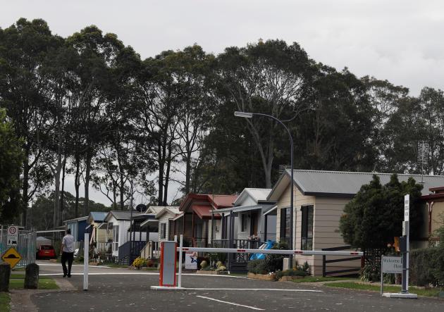 Des habitations dans la ville de Nowra,en Nouvelle-Galles du Sud, en avril 2018.