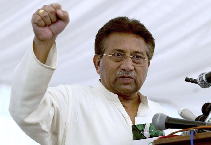 L'ancien président pakistanais Pervez Musharraf, le 15 avril 2013 à Islamabad.