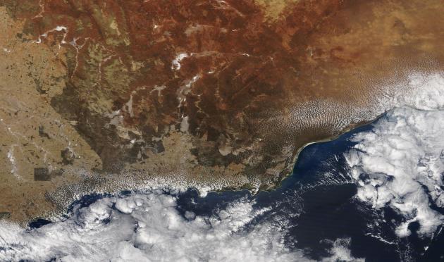 Une image satellite du sud-est de l'Australie, près du Parc national du cap Arid, le 1ernovembre.