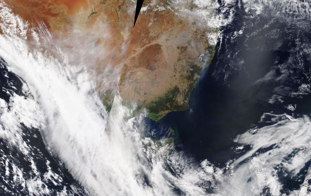 Vue satellite de laNouvelle-Galles du Sud, le 1er novembre.