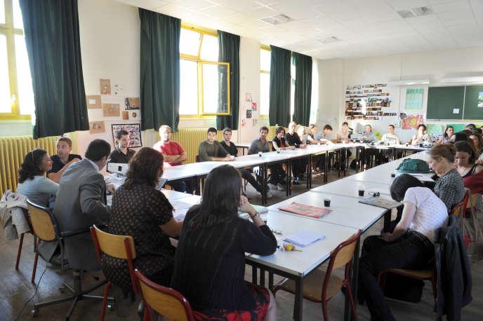 Rentrée des enseignants, à Paris, le 2 septembre 2011.