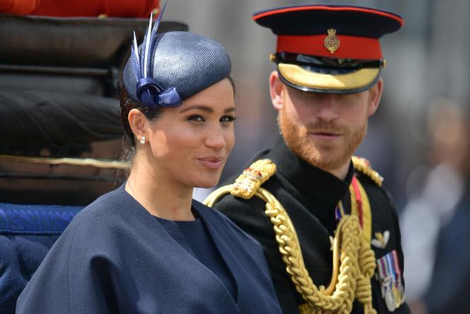 Meghan Markle et le prince Harry, au palais de Buckingham à Londres, en juin 2019.