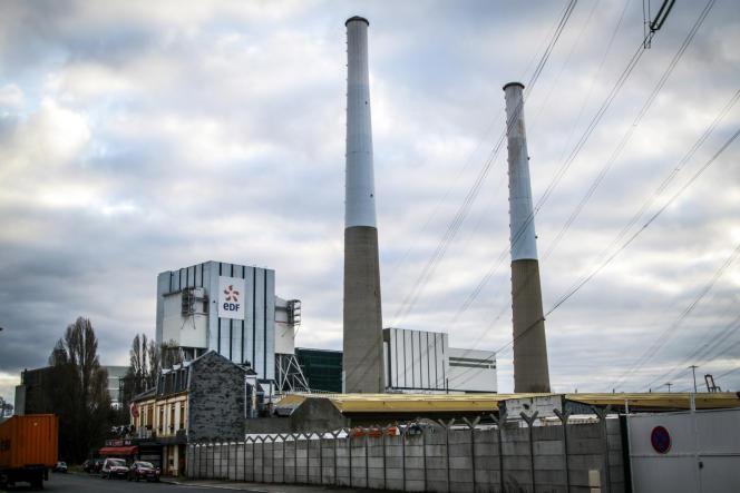 La centrale thermique du Havre (Seine-Maritime), le 10 janvier 2020.