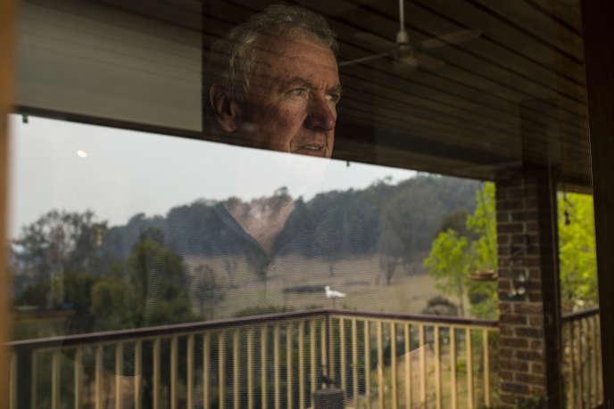 Bruce Leaver chez lui à Coolagolite, près de Cobargo, (Nouvelle-Galles du Sud, Australie), le 12 janvier.