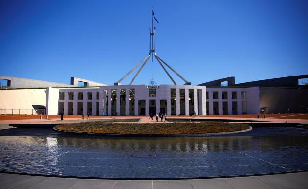Le Parlement de Canberra, capitale de l'Australie, en octobre 2017.