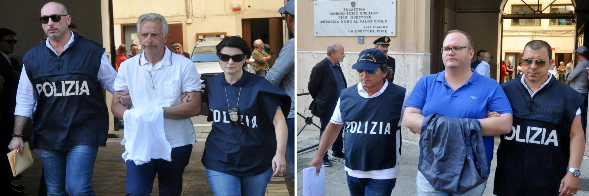 Les chefs mafieux Francesco Inzerillo(à gauche) etSalvatore Gambino, arrêtés dans le cadre de l'opération italo-américaine «New Connection» du17juillet2019.