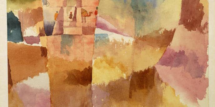 Paul Klee, Kairouan, devant la porte, 1914. Aquarelle et crayon sur carton, 13,5 × 22 cm. Moderna Museet, Stockholm © Moderna Museet / Stockholm