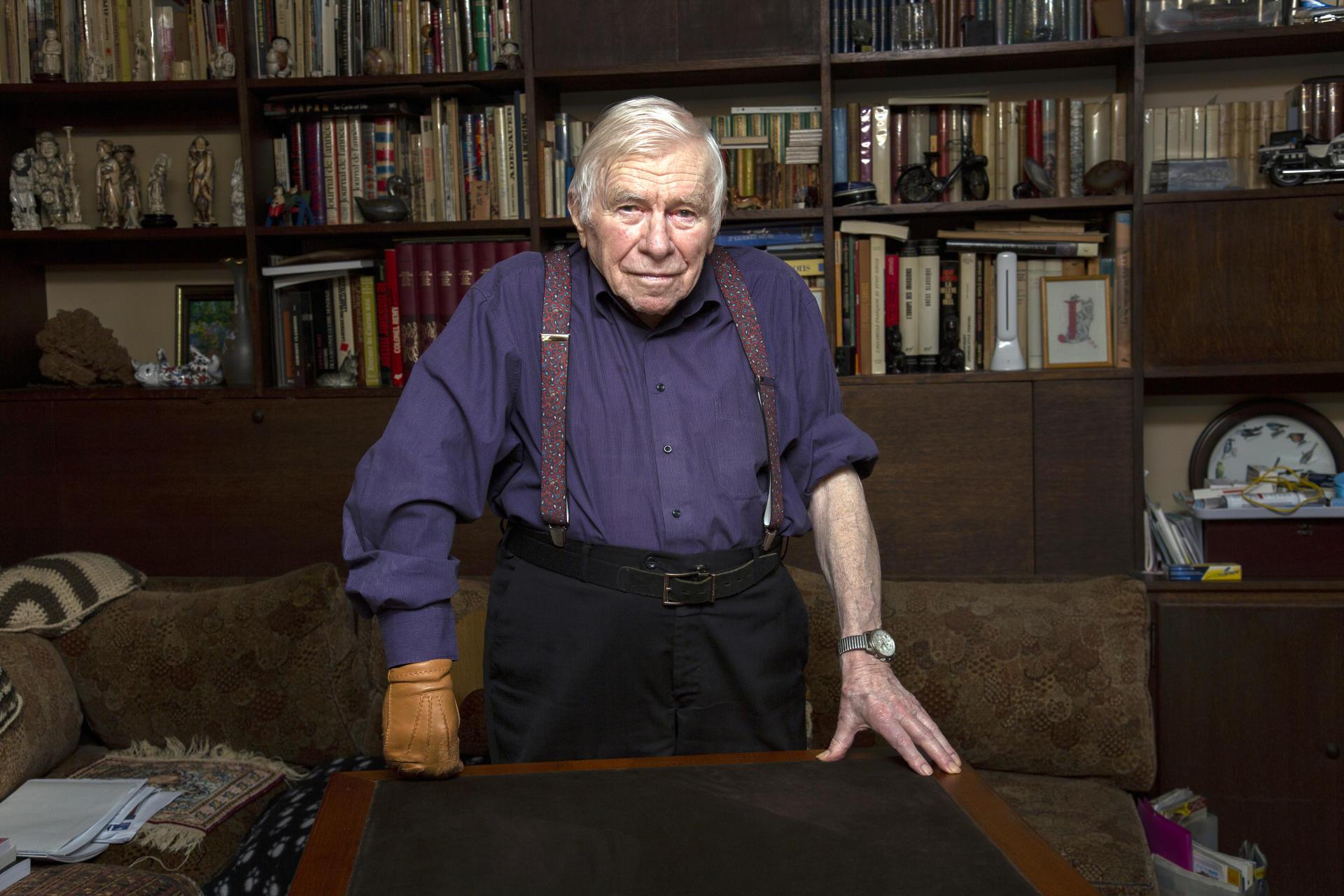 Jacques Bloch a participé à la libération de Guéret avant d'être fait prisonnier, puis interné au camps de Buchenwald. Ici, à Paris, en décembre 2019.
