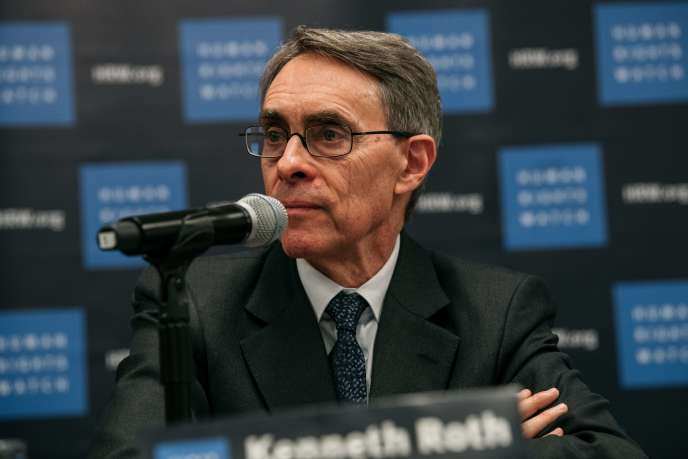 Kennetyh Royh, le directeur exécutif de Human Rights Watch lors d'une conférence de presse au siège de l'ONU à New York, le 14 janvier.