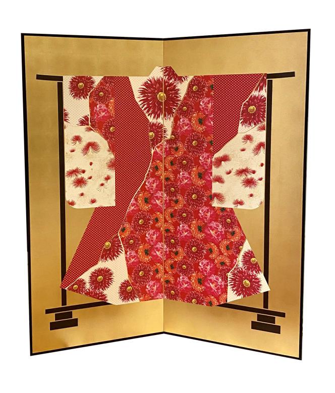Paravent en papier de soie, encadrement en laque noire et structure en bois fait main au Japon de la collection K3, par Kenzo Takada.