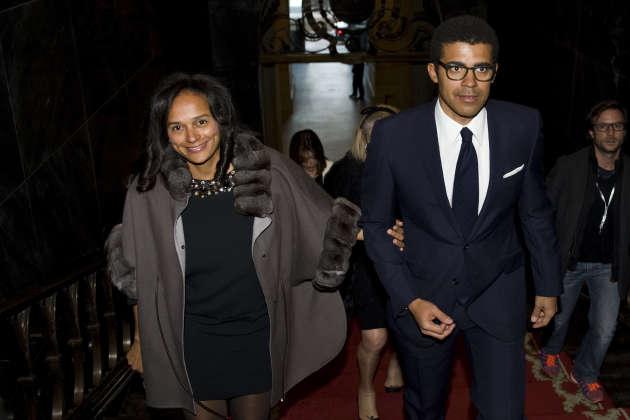 Isabel dos Santos accompagnée de son époux et partenaire d'affaires, Sindika Dokolo, à Porto (Portugal), en mars 2015.