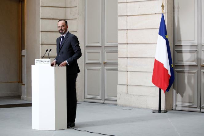 Edouard Philippe le 15 janvier à l'Elysée.