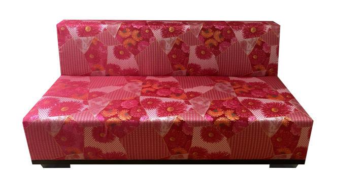 Le canapé de la collection K3, sur le thème Maiko autour de rouges et orangés vibrants.