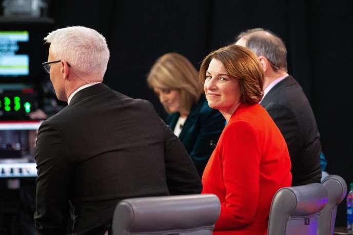 La sénatrice du Minnesota, Amy Klobuchar, lors du septième débat démocrate pour la campagne présidentielle américaine sur CNN le 14 janvier.