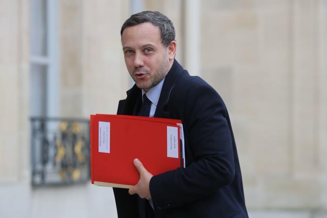 Adrien Taquet, le secrétaire d'Etat chargé de la protection de l'enfance à l'Elysée, le 15janvier à Paris.