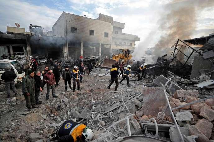 Dans la province d'Idlib, en Syrie, le 15janvier.