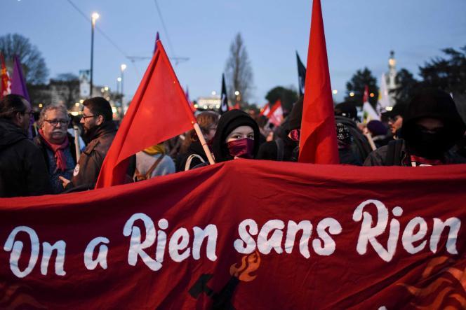 Manifestation à Nantes, le 15janvier.