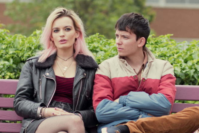 «Sex Education», avec Emma Mackey (Maeve) et Asa Butterfield (Otis).