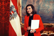 Alma Zadic, 35 ans, a faitson entrée le 7 janvierdans le nouveau gouvernement de coalition écolo-conservateur.