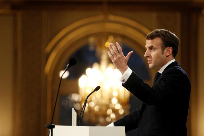 Emmanuel Macron à l'Elysée, le 15 janvier.