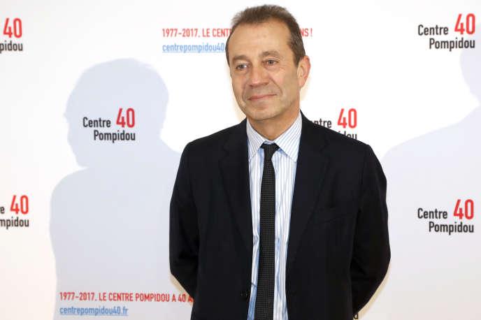 Bruno Racine, ex-président du Centre Pompidou et ex-directeur de la Bibliothèque nationale de France, lors des 40ans du Centre Pompidou, à Paris, en janvier 2017.
