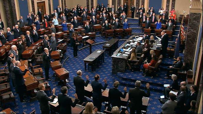 Au Capitole à Washington, le 16janvier.
