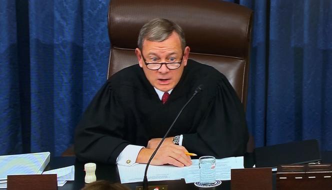 Le président de la Cour suprême des Etats-Unis, John Roberts, à Washington, le 16 janvier 2020.