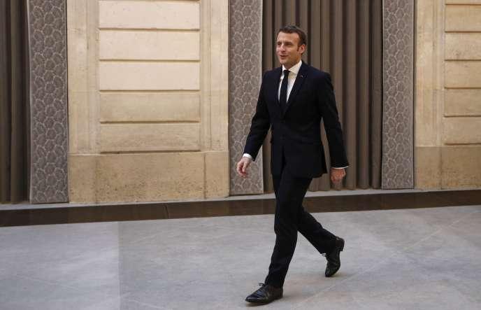 Emmanuel Macron, le 15 janvier à l'Elysée, lors de ses vœux à la presse.